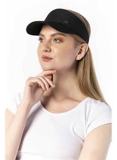 Y-London 14069 Metal Aksesuarlı Tenisçi Şapkası Siyah